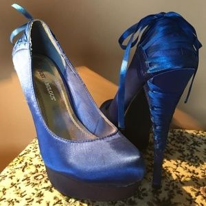 Satin Blue ribbon - lovely!